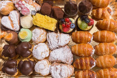 Italian pastries from above Royalty Free Stock Images