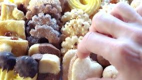 Italian pastries stock footage