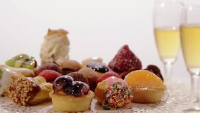Italian pastries stock video