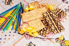 Italian pastries stock photo