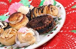 Italian Pastries for Christmas Royalty Free Stock Photos