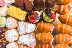 Italian pastries close up Royalty Free Stock Image