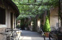Italian bistro patio Stock Images
