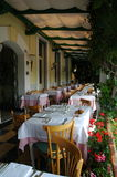 A Italian patio. An Italian patio in the early summer afternoon stock image