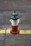 Italian patriotic fire hydrant Stock Photos