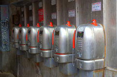 Italian Pay Phones Stock Photography