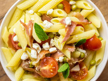 Italian Penne Pasta Salad Stock Photo