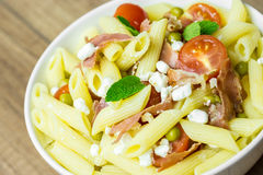 Italian Penne Pasta Salad Stock Photography