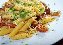Italian Penne rigate pasta with Stock Photo