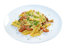 Italian Penne rigate pasta with Stock Image