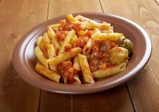 Italian Penne rigate pasta Stock Image