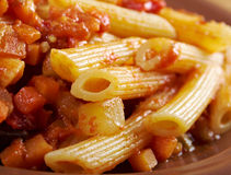 Italian Penne rigate pasta Royalty Free Stock Photography