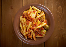 Italian Penne rigate pasta Royalty Free Stock Photo
