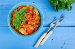 Italian peperonata: roasted bell pepper Royalty Free Stock Photography