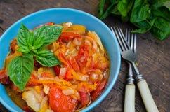 Italian peperonata: roasted bell pepper Royalty Free Stock Image