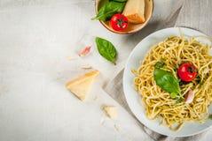 Italian pesto pasta Stock Images
