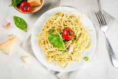 Italian pesto pasta Stock Photos