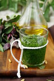 Italian pesto sauce Royalty Free Stock Image
