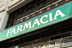 Italian pharmacy store sign