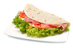 Italian piadina Royalty Free Stock Images