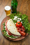 Italian piadina Royalty Free Stock Photography