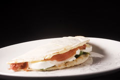 Italian Piadina or Flatbread Royalty Free Stock Image