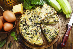 Italian pie with zucchini Royalty Free Stock Images