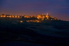 Italian Pienza By Night Royalty Free Stock Image