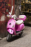 Italian pink vespa scooter outdoor Stock Images
