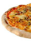 Italian pizza. Original italian pizza, with mozzarella, tomato, anchovies, capers and oregano Royalty Free Stock Photography
