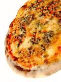 Italian pizza. Original italian pizza, with mozzarella, tomato, anchovies, capers and oregano Stock Image