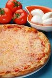 Italian pizza. Kind of italian pizza with cheese Stock Photos