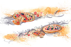 Italian pizza banner Stock Photos