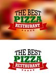 Italian pizza banner Royalty Free Stock Photos