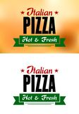 Italian pizza banner Stock Photography