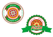 Italian pizza banners Royalty Free Stock Photo