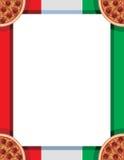 Italian Pizza Border Stock Image