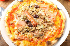 Italian Pizza Capricciosa Royalty Free Stock Image