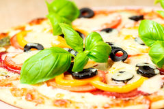 Italian pizza closeup Stock Photography