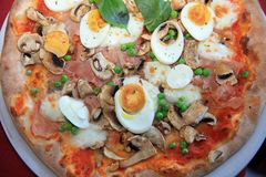 Italian Pizza closeup stock images