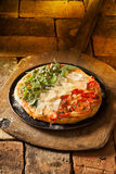 Italian pizza in the colours of the flag Royalty Free Stock Images