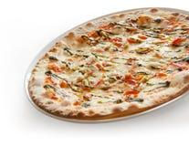 Italian pizza. Delicious italian pizza  on white Royalty Free Stock Photo