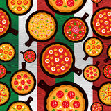 Italian pizza flavors pattern Royalty Free Stock Photo