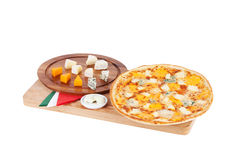 Italian pizza with four cheese Stock Photography