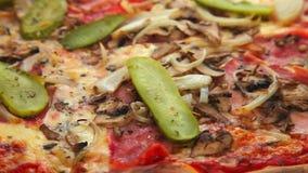 Italian pizza stock video