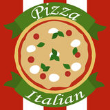 Italian Pizza. The image of italian pizza with description Royalty Free Stock Image