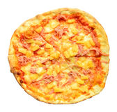 Italian pizza isolated on white Royalty Free Stock Photo