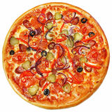 Italian pizza isolated Royalty Free Stock Image