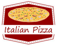 An Italian pizza label Stock Photography