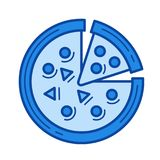 Italian pizza line icon. Royalty Free Stock Photography